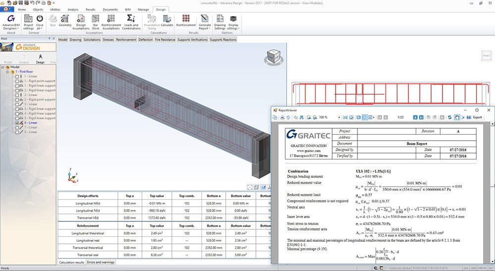 GRAITEC Advance Design | Reinforced Concrete Design