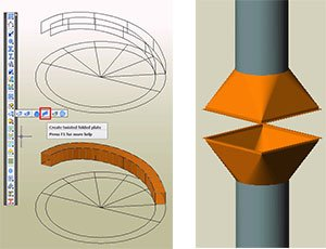 GRAITEC Autodesk Advance Steel   Sheet and plate metal work