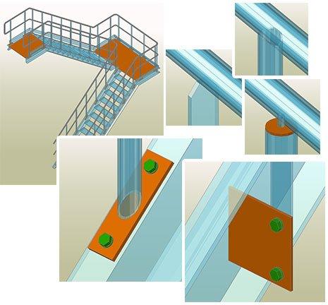 GRAITEC Autodesk Advance Steel | Stairs and Railings