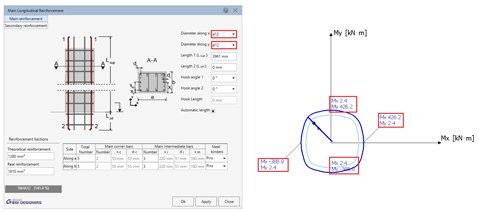 GRAITEC Advance BIM Designers | Interaction curves, diagrams and stability graphics