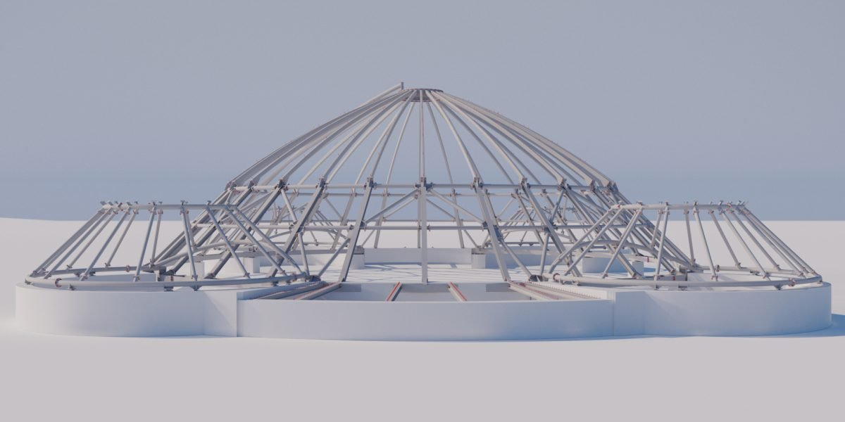 Steel-Glass-Roof for an elephant house